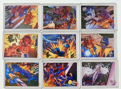 X-Men - Fleer Ultra 94 - Team Portrait Set  - 9 Cards -  Komplett