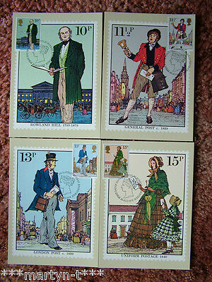 PHQ Card set FDI Front No 38 Sir Rowland Hill 1979. 4 card set.  Mint Condition.