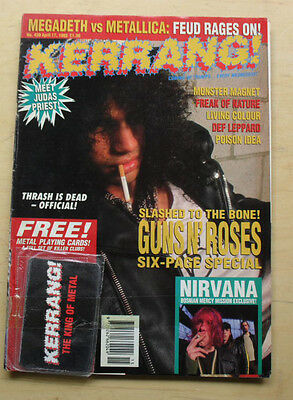 Guns N Roses Kerrang No.439 Magazine Apr 17 1993 Slash Cover Uk