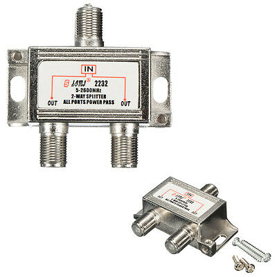2 Way 5-2600mhz TV Satellite Cable Splitter Combiner for Sky Virgin Signal Media