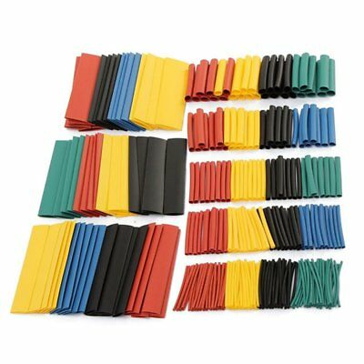 328pcs 2:1 Polyolefin Heat Shrink Tube Assort Set Wire Insulated Sleeve 8 Size