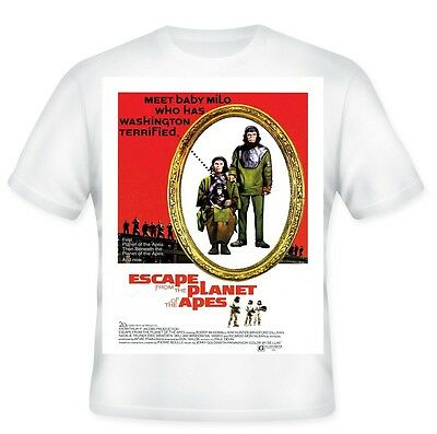 Escape From The Planet Of The Apes - Printed T-Shirt 100% Polyester.
