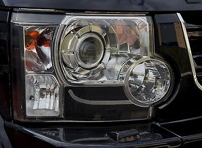 D4 look Headlight upgrade kit 6pc sticker+bulb 3156 Land Rover Discovery 3 LR3