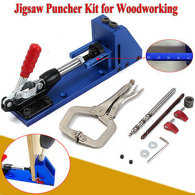 Jig Pocket Hole Joinery Kit with Removable Drill Guide Carpentry Woodwork Tools