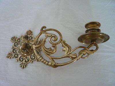 Single Vintage Decorative Brass Candlestick Holder Wall Sconce Piano
