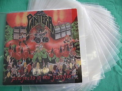 """10 x 12"""" LP VINYL RECORD Plastic Outer Sleeve Covers Heavy Duty"""