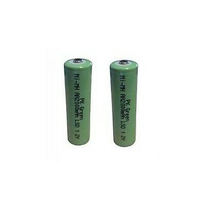 Rechargeable NiMH AA 2000mAh 1.2V Set of 2 Batteries by PK Green
