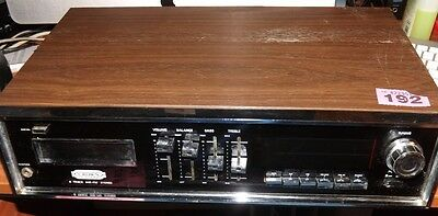 Vintage CROWN SHC-262 8-track cartridge player amplifier radio * SOLD AS FAULTY