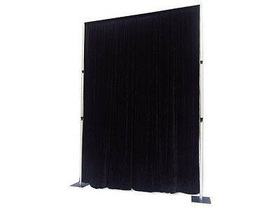 Flame Retardant Black Backdrop For Stage Curtain Drape 3m x 3m polyester