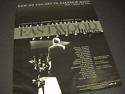 CLINT EASTWOOD Carnegie Hall AFTER HOURS 1997 Promo Poster Ad mint condition