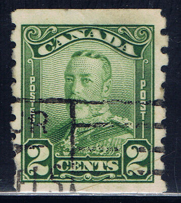 Canada #161(3) 1929 2 cent green George Scroll Issue COIL Used CV$5.00