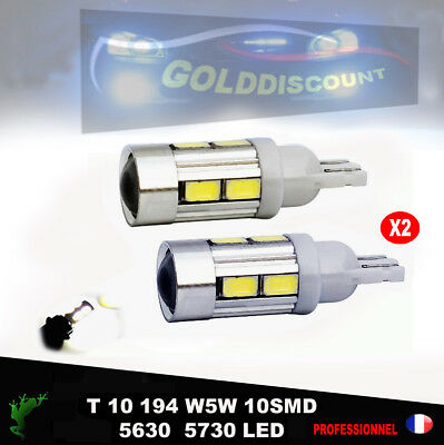 t10 led w5w 10 smd Blanc Pur 6000k  Veilleuse - voiture moto