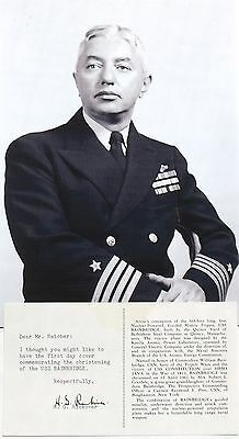 Admiral Hyman G. Rickover ''Father Of The Nuclear Navy'' Autograph ''Rare''   .