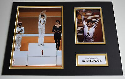 Nadia Comaneci SIGNED autograph 16x12 photo display Olympics 1976 AFTAL & COA