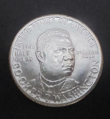 USA 1946 Silver Booker T Washington 50c Half Dollar Coin Brilliant Uncirculated