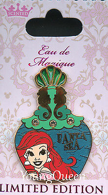 Disney Little Mermaid Ariel Eau De Magique Perfume Bottle Jeweled Le Pin