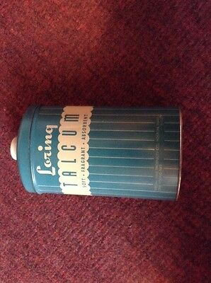 Large vintage Loring talcum powder tin