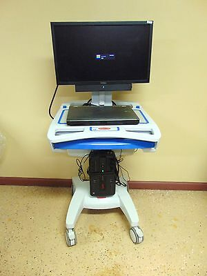 Rubbermaid Medical Solutions Mobile Medical Cart 1854485 With Dell Laptop ~MR156