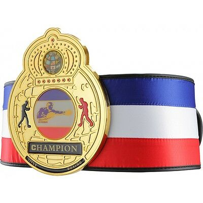 Title Boxing Gold-Plated Centerplate Satin Traditional Title Belt