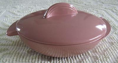 Boonton Ware Melmac Atomic Covered Divided Vegetable Dish #605