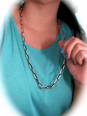 Navajo Handmade Heavy Sterling Silver Chain by Sally Shirley