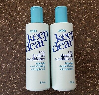 Lot of 2 Avon Keep Clear Anti-Dandruff Conditioner 8 oz NOS