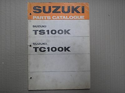 Suzuki 100 TS100 TC100 K genuine parts catalogue 99000-91741 USED
