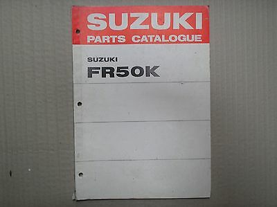 Suzuki FR 50 FR50 FR50K genuine parts catalogue 99000-91790 USED