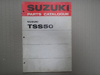 Suzuki 50 TSS50 TS50 genuine parts catalogue 99000-91590 Oct 1971 lightly USED