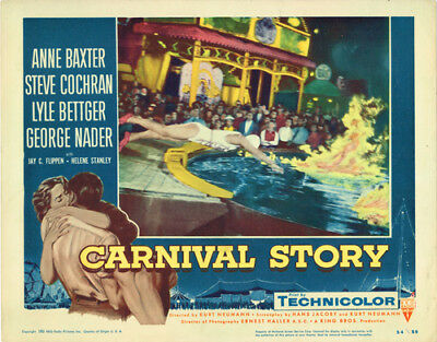 Carnival Story Original Lobby Card Anne Baxter Dives Into Pool