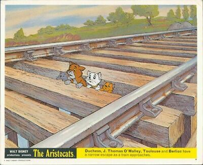 The Aristocats Original Walt Disney Lobby Card Animation Duchess O'malley Train