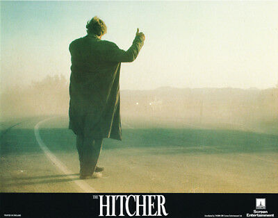 The Hitcher Original 11X14 Lobby Card Rutger Hauer On Road British