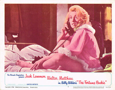 The Fotune Cookie Original 11X14 Lobby Card Judi West Barefoot On Bed Photo