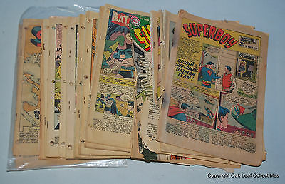 Lot of 17: Silver Age/Golden Age - Coverless DC Comic Books