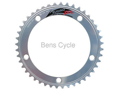 """Sugino ZEN Track Racing Chainring NJS Silver 44T 144 BCD 1/8"""" SSGN Aluminum NEW"""