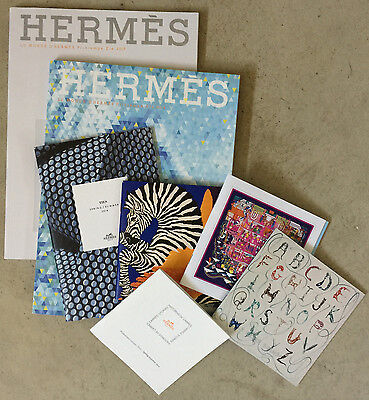 7 Hermes Catalog Scarf Tie Booklets - 7 pieces