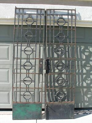 Antique Tall Iron Gate Door Garden Piece Architectural Room Divider