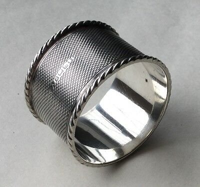 Vintage Solid Silver Napkin Ring - Good Weight - Nice Item