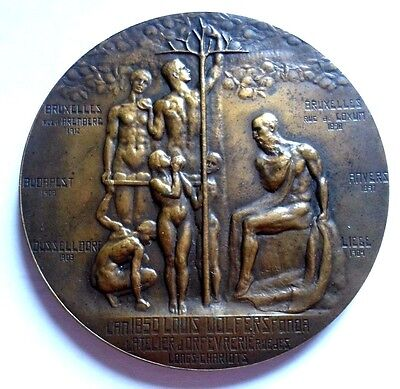 1912 WOLFERS FRERES SILVERSMITH BRUSSELS / Bronze Medal / 65 mm / N140