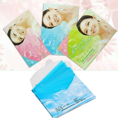 2Packs/100pcs Skin Care Facial Oil Control Blotting Papers Absorption Tissue New