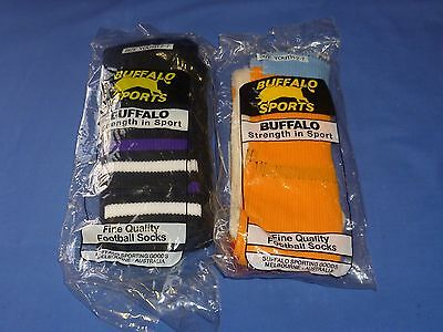2 x New Pairs Warm training Socks AFL Football Footy Soccer Rugby Youth 2 - 7