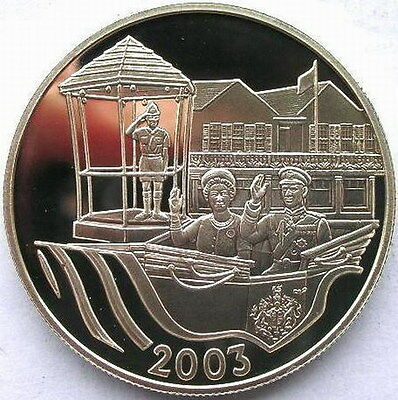 Bermuda 2003 Royal Visit 5 Dollars Silver Coin,Proof