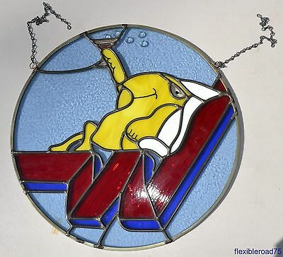 Western Airlines WALLY BIRD Stained Glass Vintage Office Hanging