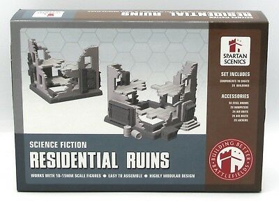 Spartan Scenics SGSS30 Residential Ruins Science Fiction Ruined Building Terrain