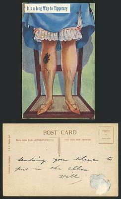 Ireland Comic Its a Long Way to Tipperary Mouse Rat Woman Petticoat Old Postcard