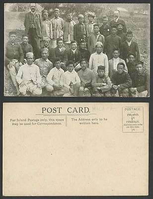 Malaya Old Postcard Guild Mission Teaching Staff Malay Group Straits Settlements
