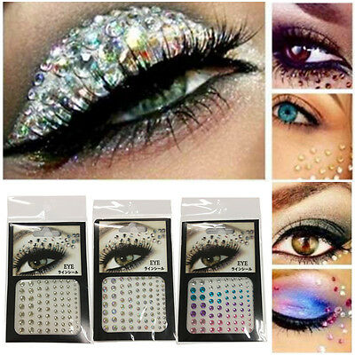 81x Eye Gem Kit Acrylic Rhinestones Crafts Body Face Painting Festival Cosmeticღ