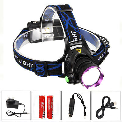 Recargable 10000LM XM-L T6 LED Linterna Frontal Head Lámpara Antorch Luz Cabeza