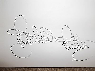 Richard Petty  Autographed 3x5 index card