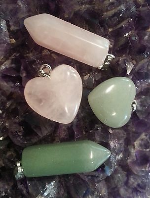 Wow Healing Bulk Lot - 4 Mixed Gemstone Pendants - Free Post